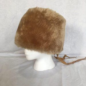 Vintage union made fur bucket hat